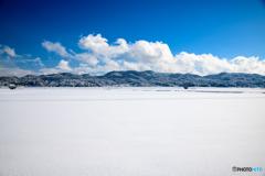 家の近くの雪景色
