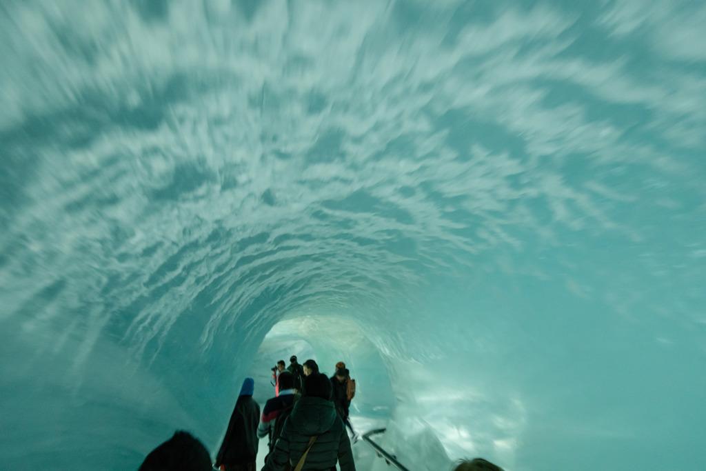 ユングフラウ鉄道 氷河の中1