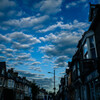 Street under the clouds