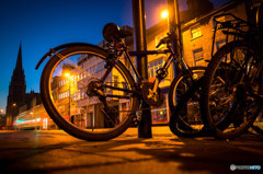 Bicycles in the street