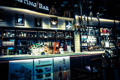 Tasting bar in the airport