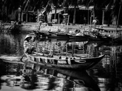 Canoe on the Thu Bon River
