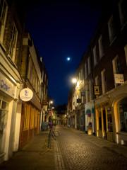 Street under the moon