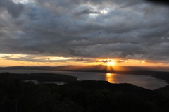 網走湖の夕景
