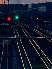 鉄路の夕暮れ