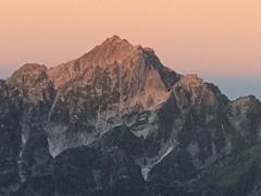 剱岳 モルゲンロート