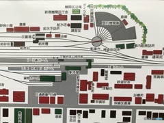 新得機関区 レイアウト図