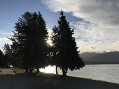 静かな湖畔