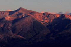 夕映えの峰々