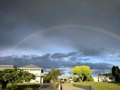南半球の虹