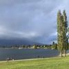 雨上がりのティアナウ湖