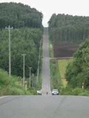 就実の丘・ジェットコースターの道