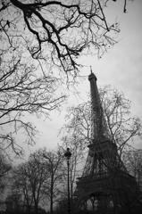 冬のエッフェル塔
