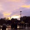 パリ、雨上がりの夕空