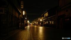 Quiet time, Hanami-koji Ave Kyoto 2018