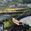 弓形のシーサイドライン(長崎本線旧線)