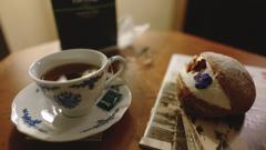 夜のお茶タイム in ホテルヨーロッパ