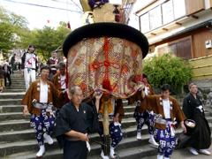 本日の:長崎くんち 馬町の傘鉾さん