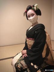 祇園町、襟替え前 多都葉さん