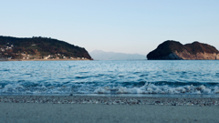 On the beach, Isahaya