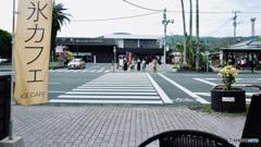指宿駅前カフェより