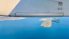 ANA 785 機窓、今日の長崎空港