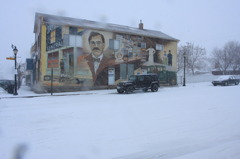 SNOW ON STONY PLAIN / POST OFFICE