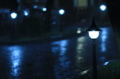NIGHT, RAIN, BLUE