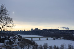 WINTER ON NORTH SASKATCHEWAN RIVER
