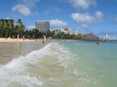 WAVE ON WAIKIKI BEACH