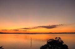 児島湖 夕焼け