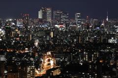 After dark from HIGASHIYAMA-sky tower