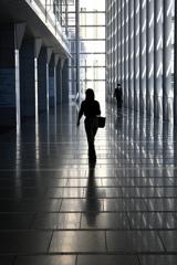 Proceed through the corridor