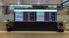 Departure time display board