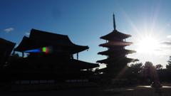 もうすぐ古都に陽が落ちます。