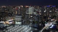 Jet black & Metropolitan city lights