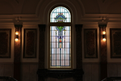 Shine through a stained-glass window
