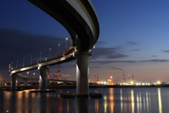 INABA-port line night view