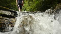 滝の上の渓流