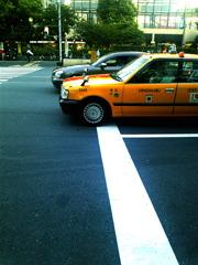 東京のタクシーと