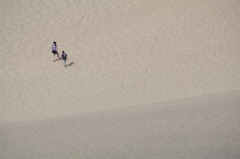 鳥取砂丘と親子