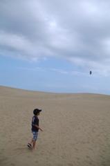鳥取砂丘と息子