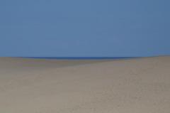鳥取砂丘と日本海と空