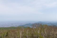 手稲山から札幌市街方向