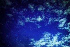 台風一過の夜空