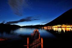 中禅寺湖の夕暮れ