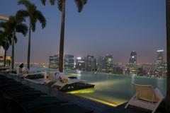 シンガポール マリーナベイサンズ天空のプール