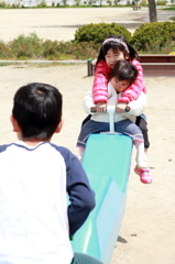 Playing on a seesaw