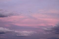 夕焼け空がきれいだったので