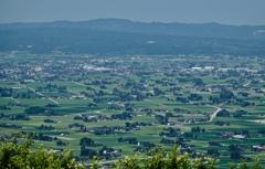 展望台から見た散居村